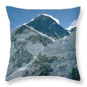 Mount Everest Morning Throw Pillow