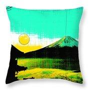 Mount Fiji Throw Pillow