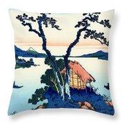 Mount Fuji Tranquility Throw Pillow