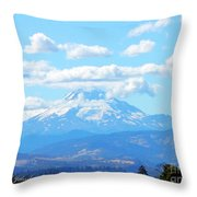 Mount Hood In The Clouds Throw Pillow