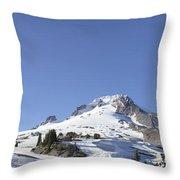Mount Hood Oregon Panorama Throw Pillow