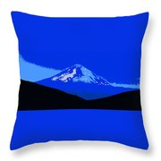 Mount Hood Panoramic Throw Pillow