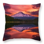 Mount Hood Sunrise Throw Pillow
