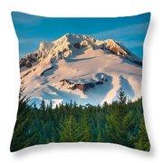 Mount Hood Winter Throw Pillow