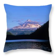 Mount Hoods Looms Over Lost Lake  Hood Throw Pillow