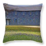 Mount Horeb Masonic Lodge 137 With Bluebonnets Throw Pillow
