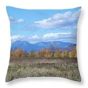 Mount Katahdin From Stacyville Throw Pillow