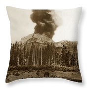 Mount Lassen Volcano California 1914 Throw Pillow