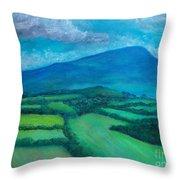 Mount Leinster Ireland Throw Pillow