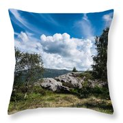 Mount Lovstakken Throw Pillow