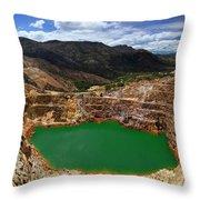 Mount Lyall Mine In Queenstown Throw Pillow