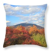Mount Monadnock From Gap Mountain In Autumn Throw Pillow