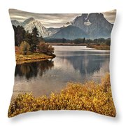 Mount Moran Throw Pillow