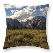 Mount Moran - Grand Teton National Park Throw Pillow