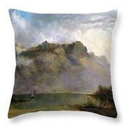 Mount Olympus. Lake St Clair. Tasmania The Source Of The Derwent Throw Pillow