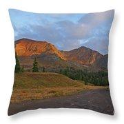 Mount Owen Sunrise Throw Pillow