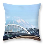 Mount Rainier Backdrop Throw Pillow