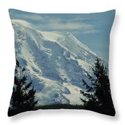 Mount Rainier From Patterson Road Throw Pillow