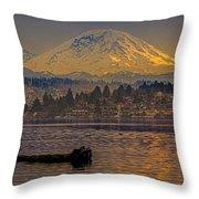 Mount Rainier Throw Pillow