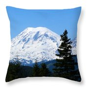 Mount Rainier Panorama Throw Pillow