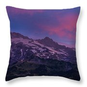 Mount Rainier Sunrise Throw Pillow