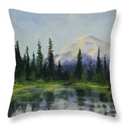 Picnic By The Lake Throw Pillow