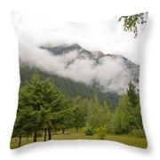 Mount Robson Provincial Park Throw Pillow