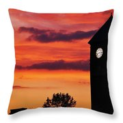 8.15 On The Mount Royal Clock Tower Baltimore Throw Pillow