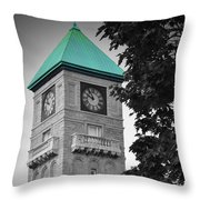 Mount Royal Teal Throw Pillow