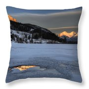 Mount Rundle And Vermillion Lakes Throw Pillow