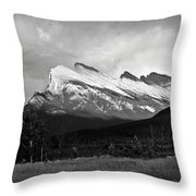 Mount Rundle At Banff National Park Throw Pillow