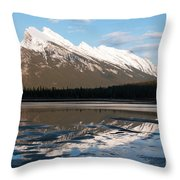 Mount Rundle Reflections Throw Pillow