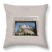 Mount Rushmore 3 Throw Pillow