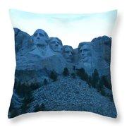 Mount Rushmore Blues Throw Pillow