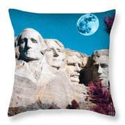Mount Rushmore In South Dakota Throw Pillow