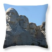 Mount Rushmore National Monument Throw Pillow