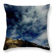 Mount Rushmore South Dakota Throw Pillow