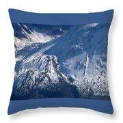 Mount Saint Helens Cauldera  Throw Pillow