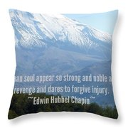 Mount Saint Helen's Text Throw Pillow