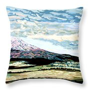 Mount Shasta California Throw Pillow