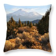 Mount Shasta In The Fall  Throw Pillow