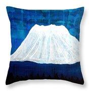 Mount Shasta Original Painting Throw Pillow