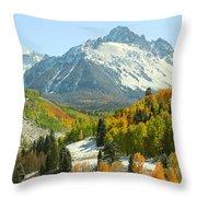 Mount Sneffels In Ridgway Colorado Throw Pillow