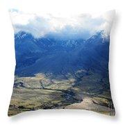 Mount St. Helen's Cloud Kissed Throw Pillow