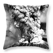 Mount St Helens Eruption Throw Pillow