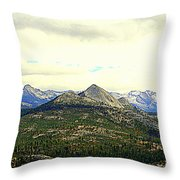 Mount Starr King Throw Pillow