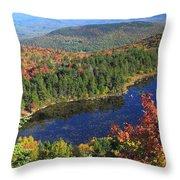 Mount Sunapee Lake Solitude Fall Foliage Throw Pillow