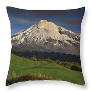 Mount Taranaki Western Flanks New Throw Pillow