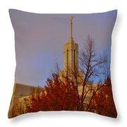 Mount Timpanogos Lds Temple Throw Pillow