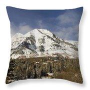 Mount Timpanogos Panorama Throw Pillow